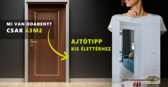 Egy praktikus, mégis dizájnos ajtó kis élettérhez - tegye élhetővé és vonzóvá lakását